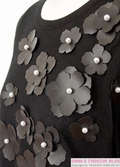 DIY: leather flowers top