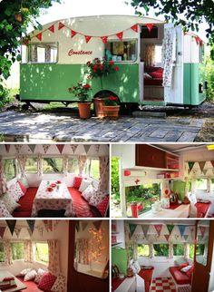 .Cute vintage camper.