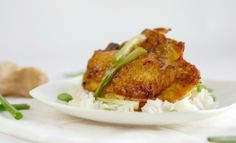 Turmeric Chicken with Braised Ginger Scallions Recipe - Greener Ideal