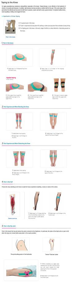 Kinesio Taping Instruction For Knee & Hip Pain