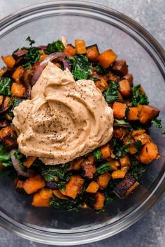 Warm Chipotle Lime Sweet Potato Salad | whole30 salad | gluten-free side dish | dairy-free potato salad | paleo side dish| healthy side dish || The Real Food Dietitians #whole30 #glutenfreerecipes #healthysides