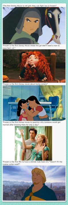 """I loved Frozen, but it is not  the """"first"""" on the following...instead,  it has all aspects in it."""