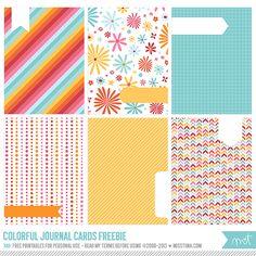 FREE Printables – Colorful Journal Cards | MissTiina.com {Blog}