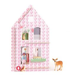 The most awesome little DIY dollhouse kits for kids to put together and decorate