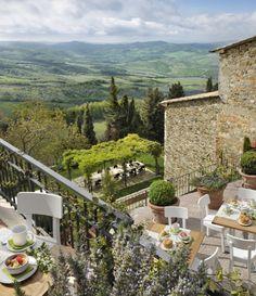 dream, breakfast, outdoor space, tuscany italy, places, italy travel, hotel monteverdi, itali, hotels