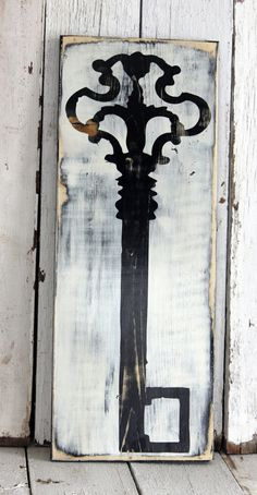 Big wooden key. This would be so cute on a wall!