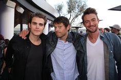 Paul Wesley, Misha Collins, and Robert Buckley at San Diego Comic Con 2014