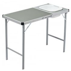 Camp table with sink