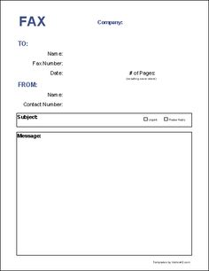 Blank fax cover page free fax cover sheet template printable fax