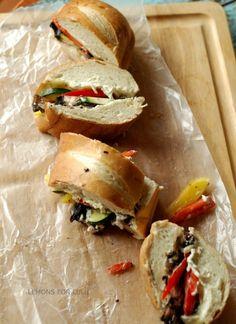 Veggie Melt Sandwich | lemonsforlulu.com