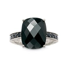 Thomas Sabo Sterling Silver Black Zirconia Dress Ring (2010) love this. it's so different.