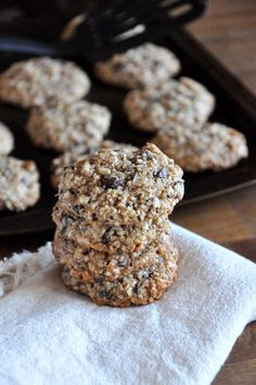 almond meal cookies with chocolate and coconut
