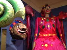 Giant puppets like those used at Mexican street festivals. Love this museum!