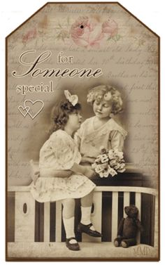Free Vintage Tags: for Valentine's Day