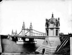 Battersea Suspension Bridge, Chelsea, c 1885