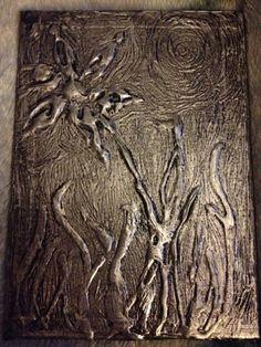 Foil glue art