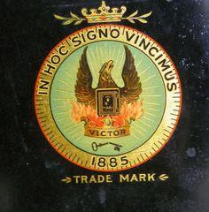 Victor Antique Safe Decal, Emblem, Inner Door Sticker, Reproduction