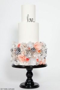 Wafer Paper Flower Cake   by Hey There, Cupcake!