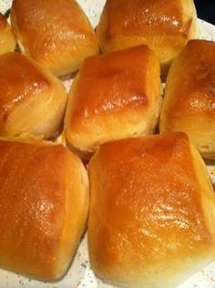Texas Roadhouse Rolls (Copy-Cat)  These also look to me just like the fresh-baked rolls they serve at Golden Corral -- I can almost smell 'em!