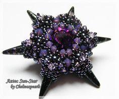 Chelseaspearls: Aztec Sun-Star Anleitung/Pattern beadwork inspir, chelseaspearl, bead bead, beauti beadwork, stars, aztec sunstar, bead pendant, beadwork tutori, spike bead