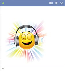 You're just feeling groovy and want to convey the feeling! When the mood strikes and the tunes are cranked the way you like them, let your FB pals know you're just hanging out by posting this cool emoticon on your wall. You can send it in a private chat message too!
