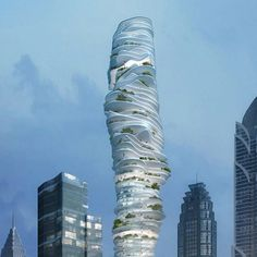Beijing architects MAD have designed a skyscraper for Chongqing, China, with gardens at each level.