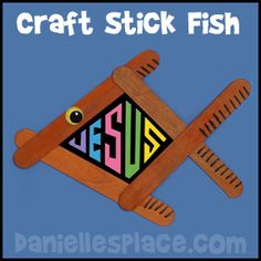 sunday school craft, craft sticks, fishers of men, stick fish, kids crafts bible