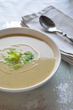 Celery Root Soup | coffeeandquinoa.com