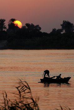 Fishing on the river Nile. Paradise!