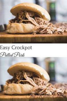 Easy Crockpot Pulled