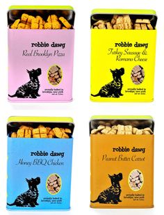Robbie Dawg Biscuits are handcrafted in Brooklyn, New York and available in flavors like Real Brooklyn Pizza and Honey BBQ Chicken.