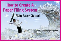 How to Create a Paper Filing System