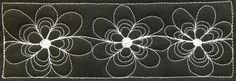 Learn how to quilt this beautiful Daisy Chain on the Free Motion Quilting Project - http://freemotionquilting.blogspot.com/2014/02/426-free-motion-quilt-daisy-chain.html