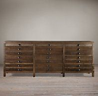 Printmaker's Sideboard but in antique pine finish