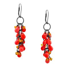 Tango Drop Earrings | Fusion Beads Inspiration Gallery galleries, fusion bead, bijoux, bead inspir, beads, crafti earring, drop earring, diy, earrings