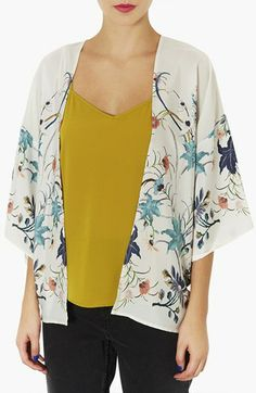 Topshop Floral Print Kimono available at #Nordstrom