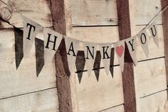 Thank You Burlap Banner with Heart. $28.00, via Etsy.