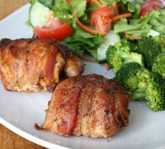 smoky bacon wrapped chicken...