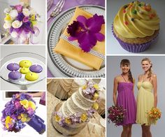 Purple and Yellow Wedding Theme Favors and Decorating Ideas