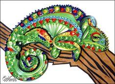 Quilled Chameleon