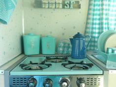 NICE 1960s Turquoise Lustro Ware