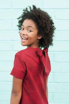 Gorgeous Deep Red Tiny Polka Dot Shift Dress. Tween Girls Fashion