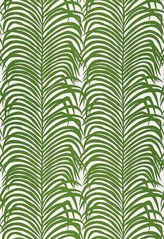 Zebra Jungle Palm Print by Schumacher | Bungle in the Jungle Inspiration