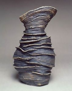 Linda Dangoor | Black Flamenco Dancing Figure - 2001.  Limoges Grogged Clay with stains