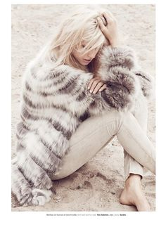 This fur coat is beautiful.