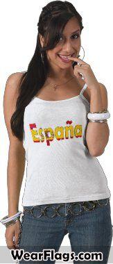Espana (#Spain) Flag T-shirt, $20.95