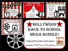 This 67 page bundle includes all you need to start the year off with a Hollywood theme! ($)