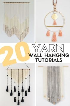 Creating a Yarn Wall Hanging is very simple and the results are stunning! Easy DIY Craft Tutorial Ideas for Inexpensive Home Decor. #thecraftyblogstalker #yarnwallhangings #yarn #yarnwallart #homedecor