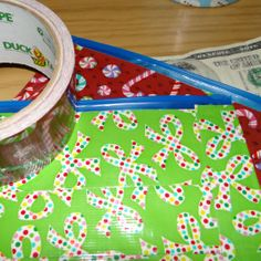 Duck Tape pouches- easy to make and reusable #DuckTheHalls #DuckTape
