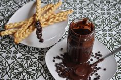 CHOCOLATE COCONUT SAUCE WITH PASTRY PLAITS